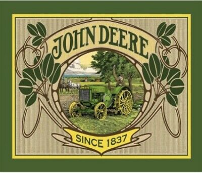 LARGE JOHN DEERE VINTAGE PRINT TRACTOR PANEL FOR QUILT ...