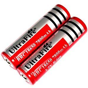 2-x-ULTRA-FIRE-4800-mAh-Lithium-Ionen-Akku-3-7-V-BRC-18650-Li-ion-schwer