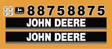 John Deere style 8875 skidsteer skid loader decal kit stickers JD
