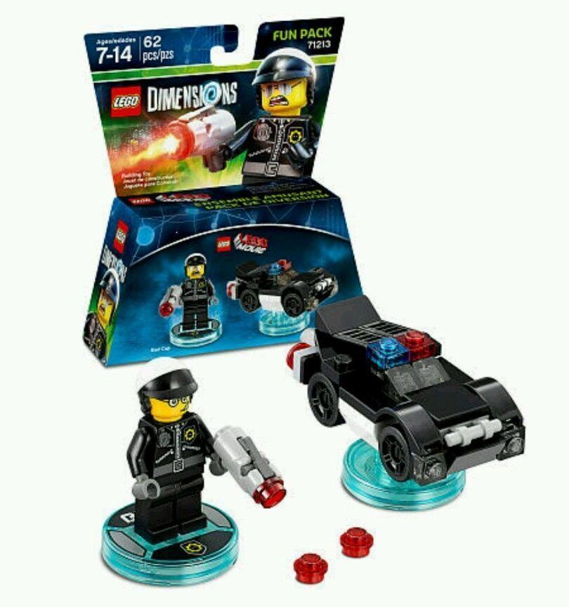 Lote de 24 Tallas de la diversión Lego la película Lego Pack 71213 Policía Malo Policía Coche A Granel