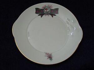 Cake-Plate-ROYAL-GRAFTON-034-MACDONALD-034-Tartan-Crest-Platter-Bone-China-England