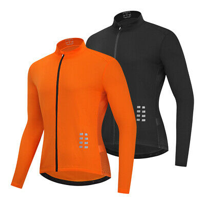 Cycling Jersey Jacket Bike Long Sleeve Breathable Shirt 3 Pockets Tops Shirt