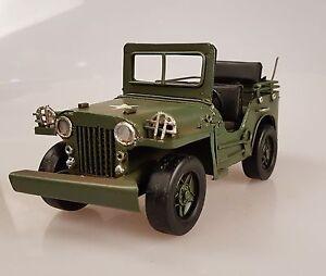 Ab 1945 DemüTigen Model Blechspielzeug Wyllis Jeep Militär Blechauto Military