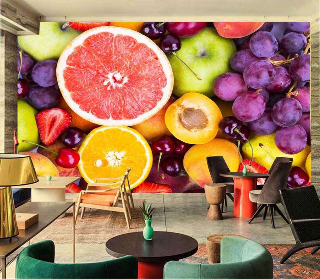 3D Bevande Succo Parete Murale Foto Carta da parati immagine sfondo muro stampa
