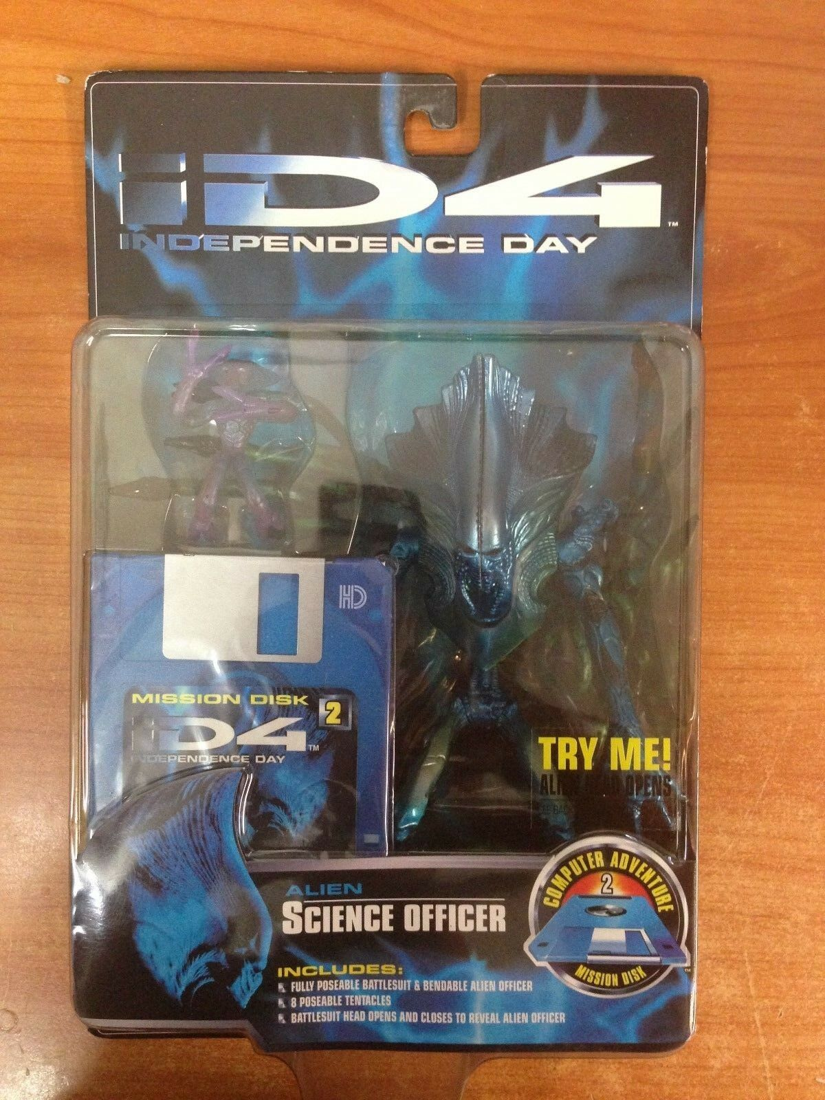 1996 Independence Day ID4 Action Figure - Alien Science Officer - New & Sealed