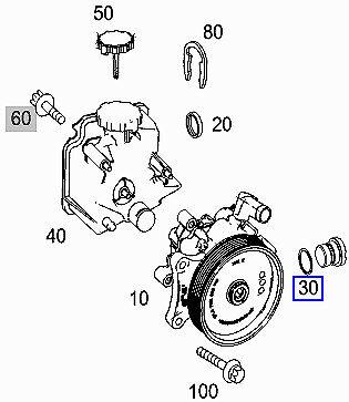 Mercedes Direction Assistée Bouchon de vidange O-Anneau Joint A0239977045