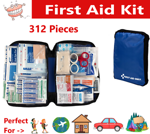 312 pcs First Aid Kit Emergency Bag Home Car Outdoor, All Purpose Kit, Portable