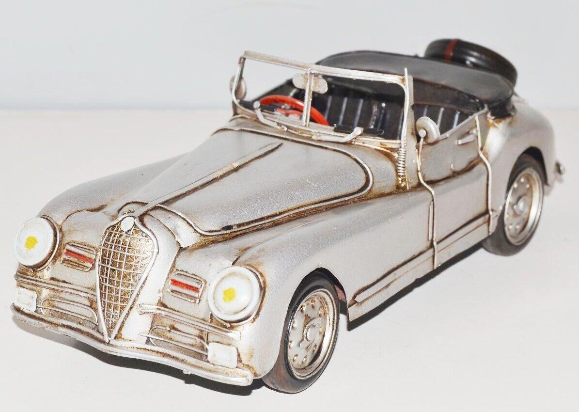 gran venta Coche a Escala Cabrio Cabrio Cabrio 1951 Nostalgia Modelo Chapa, Metal 31 cm, Nuevo ( Ko)  venta
