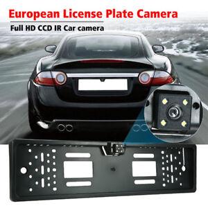 EU-Car-License-Plate-Frame-Rear-View-Reverse-Backup-Park-Night-Vision-Camer-I1