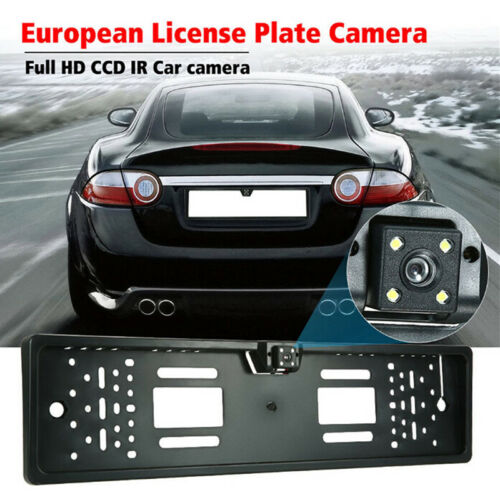 EU Car License Plate Frame Rear View Reverse Backup Park Night Vision Camera TTE