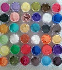 Perla Polvo De Mica pigmentos 12 Frasco Set Cosméticos Baño Bombas Jabones Vela haciendo