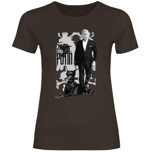 Damen T-Shirt 007 Putin BondDobermann USSR Russland