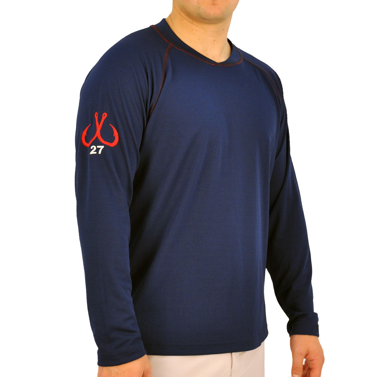 Montauk Tackle Co. SCUBA Stitch Perforuomoce Crew ShirtPick ColoreeDiuominiionegratuito Ship