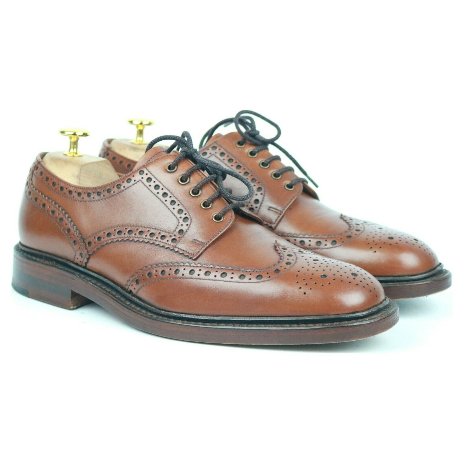 Loake 1880 'Chester' braun Leather Derby Brogues UK 7 F