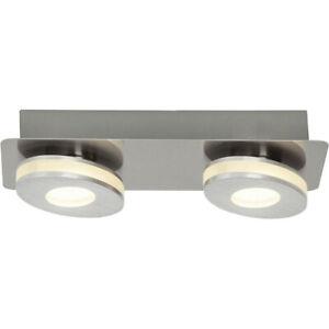 Brilliant G08529/21 Crossing LED Wand- Deckenleuchte 2x4W 2-flammig Alu/Nickel