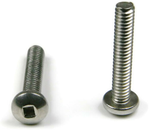 "Stainless Steel Square Drive Pan Head Machine Screw #10-32 x 3//4/"" Qty 25"