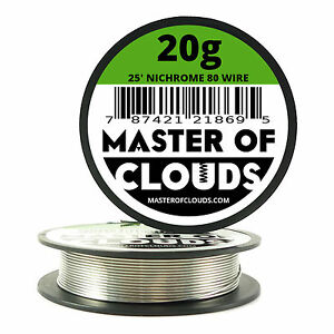 Nichrome 80 25 ft 20 gauge awg round resistance wire 081 mm 20g image is loading nichrome 80 25 ft 20 gauge awg round keyboard keysfo Images