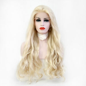 Light-Curly-Wavy-Hair-Wig-Fashion-Women-Long-Lace-Front-Wigs-Blonde-Gold
