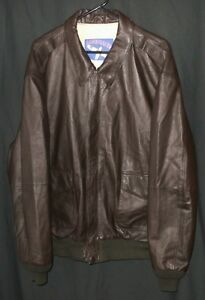 89408cec4 Details about A-2 Leather Bomber Jacket Military Flight Style Airborne Top  Gun XL Tall