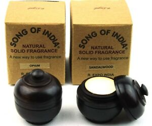 2-X-6g-Wood-Jars-Song-of-India-Natural-Fragrant-Solid-Perfume-Patchouli-Amber