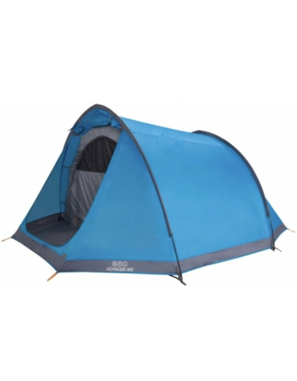 Vango Voyager 400 Outdoor Tunnel Tent 4 Persons Man Spacious Family Camping bluee
