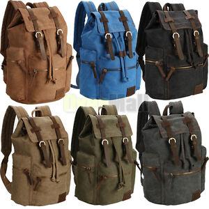Travel Canvas Sport Rucksack Camping School Satchel Laptop Hiking Bag Backpack