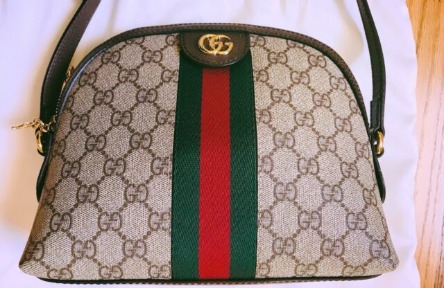 f4833d5b465c9e $1450 Gucci GG Ophidia Small Logo Canvas Backpack Bag Handbag | eBay