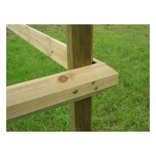 10x Octo-Wood Festzaunpfahl 225cm x 80mm Holzpfahl Holzpfosten Weidepfahl Pfähle