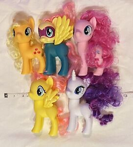 """Lot Of 5 My Little Pony Style My Ponies Fashion Large 6"""" Hasbro Apple Jack Pink"""