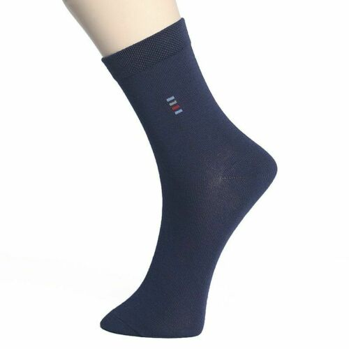 Men/'s Cotton Socks Classic Small Point Compression Crew High 5 Pair//Lot Wear New