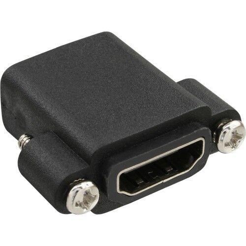 inline hdmi™ adapter zum einbau mit gewinde beidseitig a buchse einbauadapter