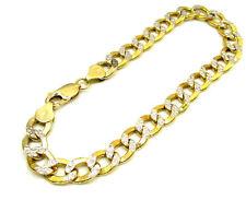 "2.80Grams 4.5mm 8"" Mens 10k Yellow Real Gold Cuban Miami Diamond Cut Bracelet"