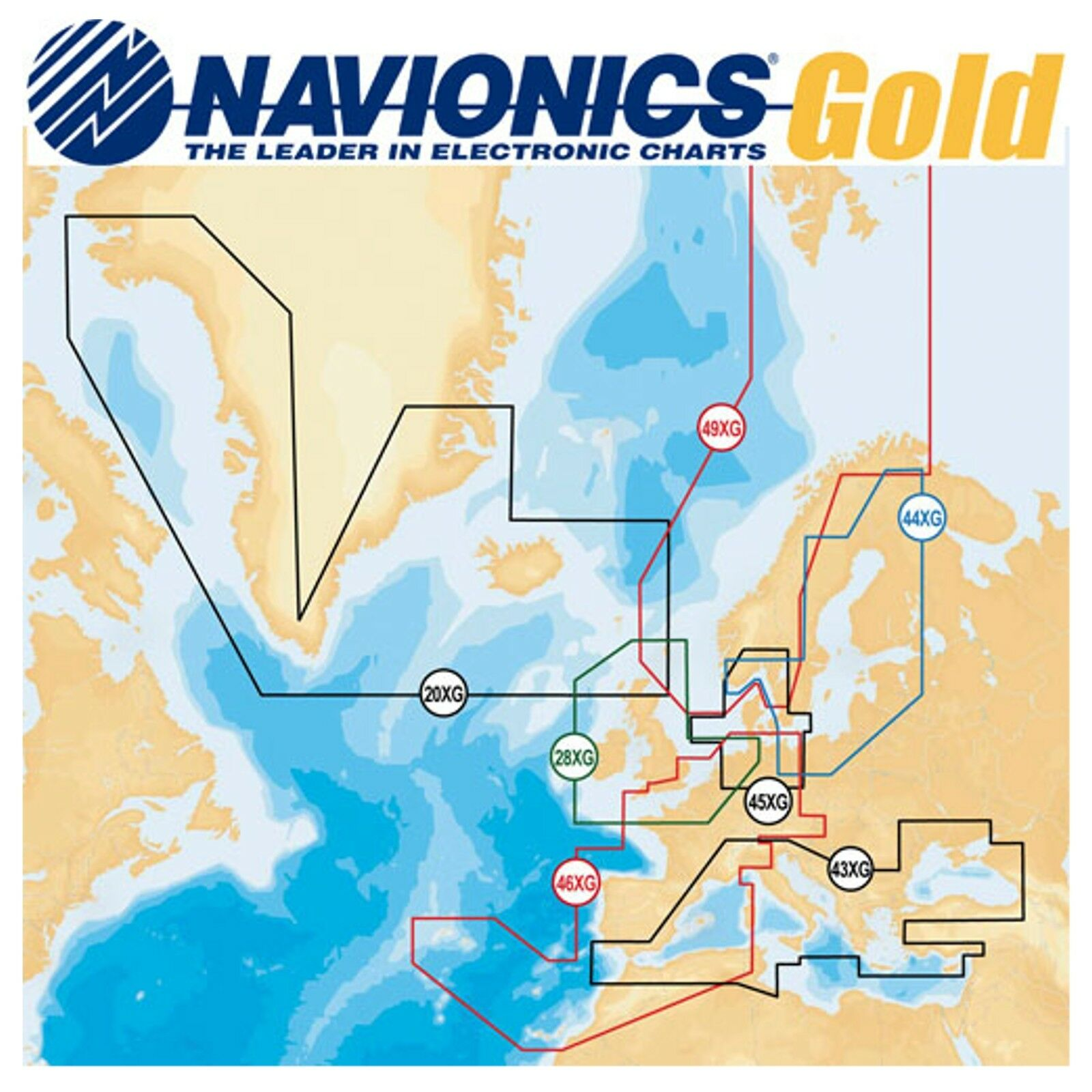 Navionics Plus Seekarte 9XL Norwegen komplett