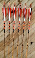 Black Eagle Vintage- Wood Grain Carbon Arrows 350 Spine-6 Pack