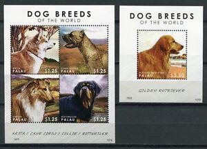 Palau-2012-Hunde-Dogs-Collie-Golden-Retriever-Satz-Block-Postfrisch-MNH