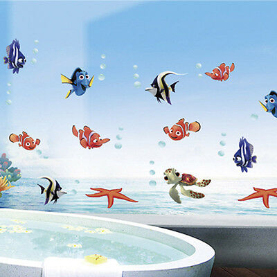 Fish Finding Nemo Underwater Kids room decor Wall sticker Wallpaper wall decals