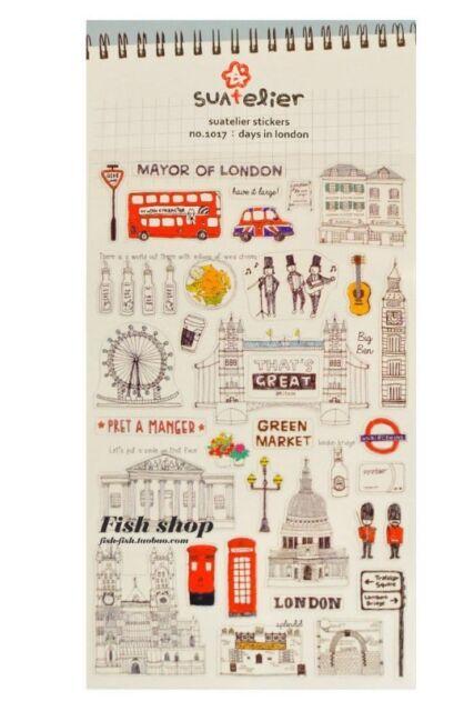 London City UK Transparent Scrapbook Diary Album Decor Stickers Scrapbook