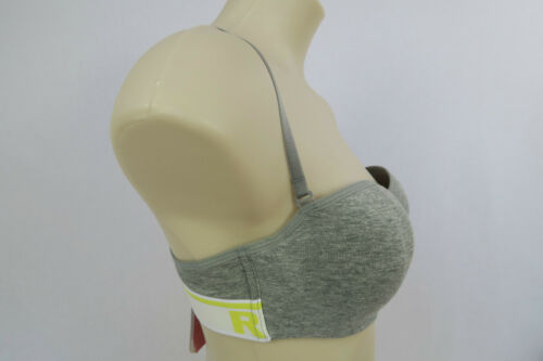 RIO Ladies Stretch Cotton Moulded Underwire Bra size 10A 10B 12A 14B Colour Grey