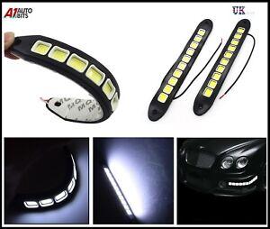 WHITE-LED-DRL-Fog-Running-Interior-Lights-10-034-12V-VAUXHAL-VIVARO-RENAULT-TRAFIC