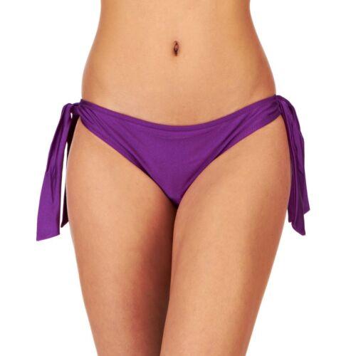POUR MOI Azzurro Bikini Tankini con cordino laterale Slip Taglia 8 14 1124 Viola Ametista Nuovo