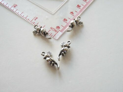 8 Cockatoo Parrot 3D Charms for Bracelet Bird Pendant for Necklace Making