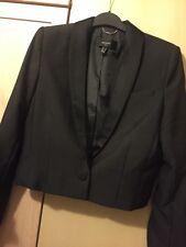 Mango Long Sleeve Black Jacket Small Size Christmas / Parties BNWT