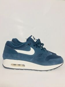 Details about Nike Air Max 1 Premium Armory Navy Sail Off White Dark OG AH8145 401 Size 9