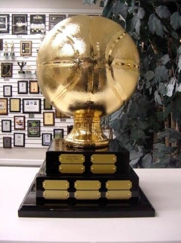 2 TIER LARGE FANTASY BASKETBALL PERPETUAL AWARD 20 YEARS TOP OF THE LINE GOLD *