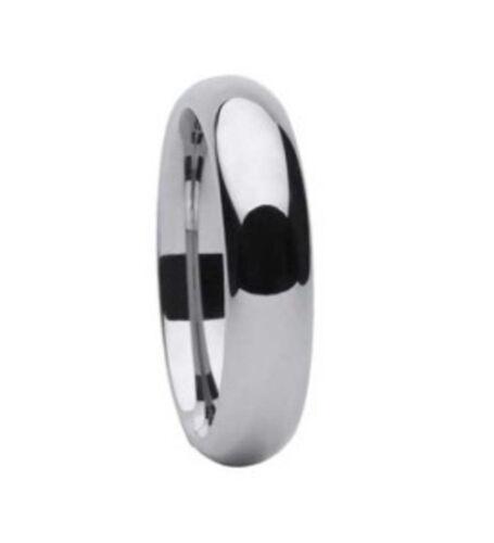 MEN 6mm High Polished Tungsten carbide ring size 10 Wedding!