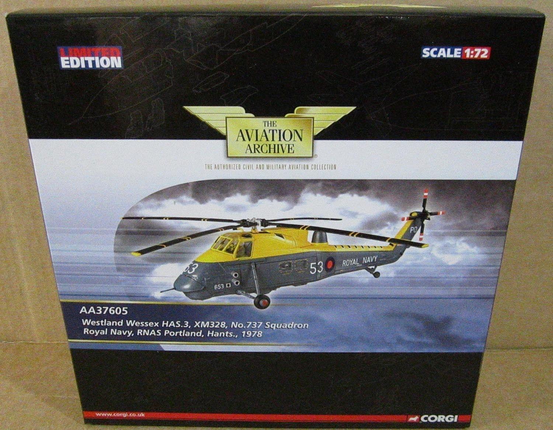 Corgi Westland Wessex HAS.3 XM328 Royal Navy RNAS Portland Hants Helicopter 1 72