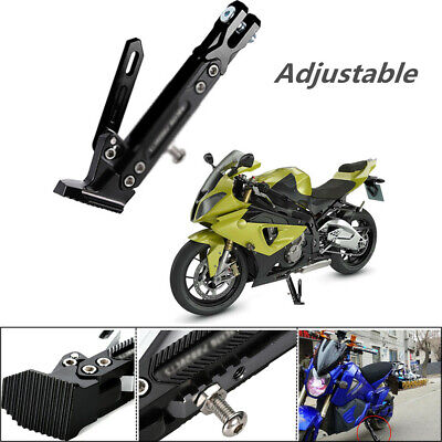 Motorbike Aluminum Alloy Foldable Foot Side Stand Tripod Holder Motorcycle Kickstand for All Motor Scooter Motor Scooter Modified Accessories