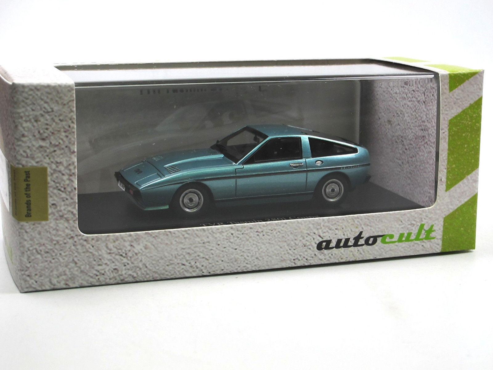 Autocult atc - 02010 tvr tasmin 280i coupé blau metallic 1 43 skala