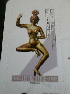 SéRieux Art Sculpture Nepalais, 2019 Tp Autoadhesif France, Neuf**, Mnh Stamp Apparence EsthéTique
