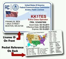 FCC Amateur Radio ID Card & Pocket Reference Ham Free Shipping